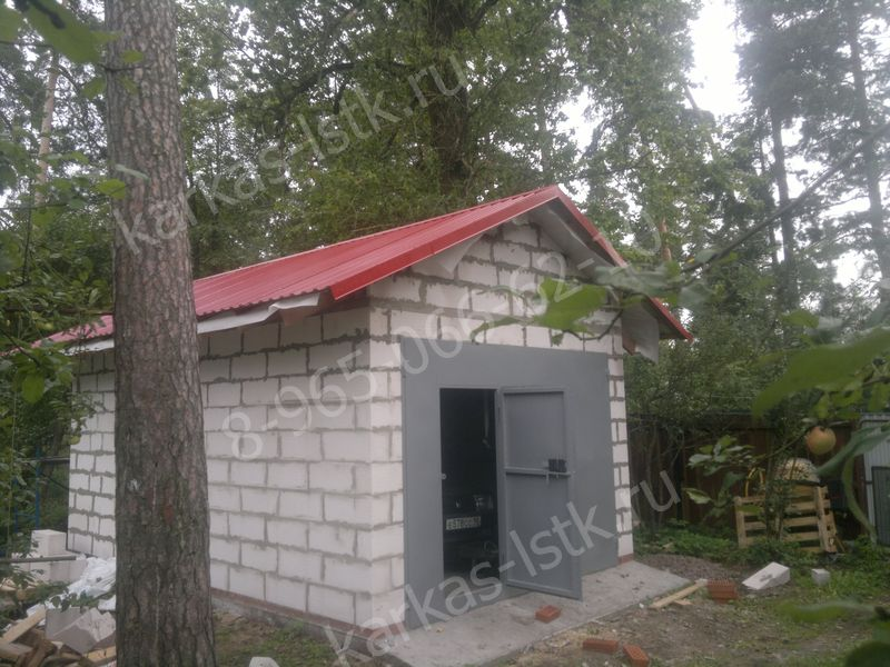 газобетонный гараж под ключ