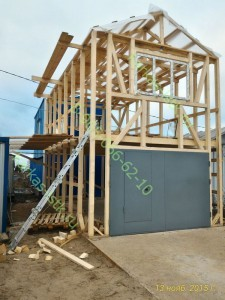 Деревянный каркасный гараж