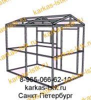 Металлический хозблок для дачного участка