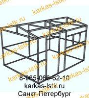 Основа металлического хозблока: каркас из стальной трубы