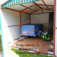 Металический гараж на даче: портфолио сайта karkas-lstk.ru