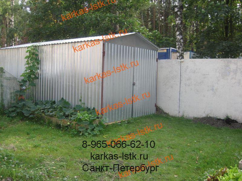 гараж из профнастила для двора