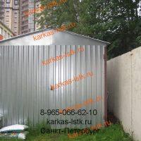 Металический гараж в городском дворе: портфолио сайта karkas-lstk.ru