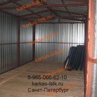 Металический гараж вид изнутри