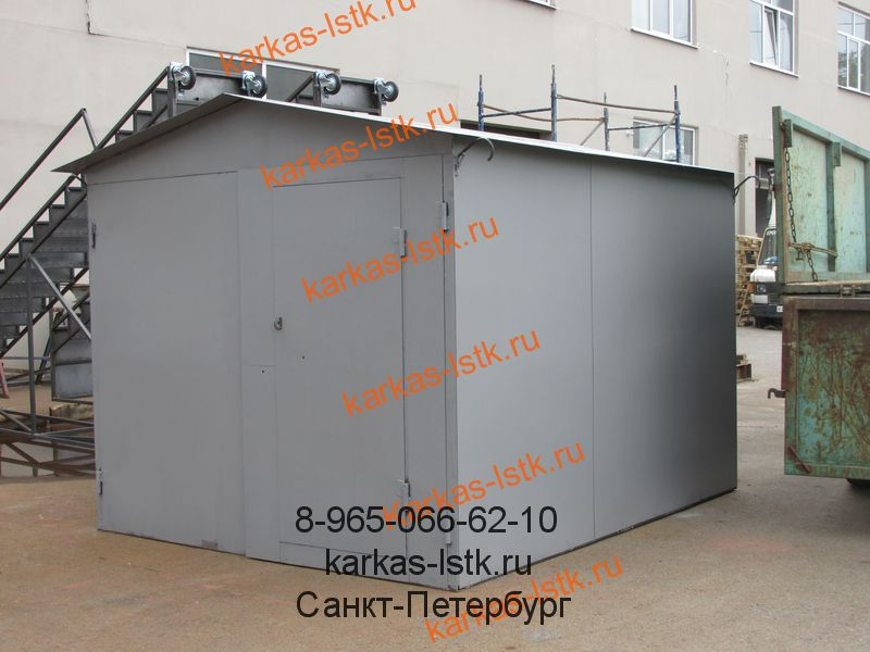 стальной гараж для дачного участка