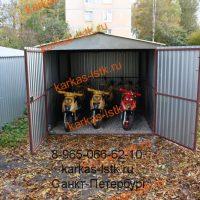Металический гараж для мотоцикла: портфолио сайта karkas-lstk.ru