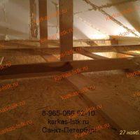 Каркасный гараж с обшивкой ОСП плитами изнутри: портфолио karkas-lstk.ru