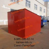 Металический гараж цветной: портфолио сайта karkas-lstk.ru
