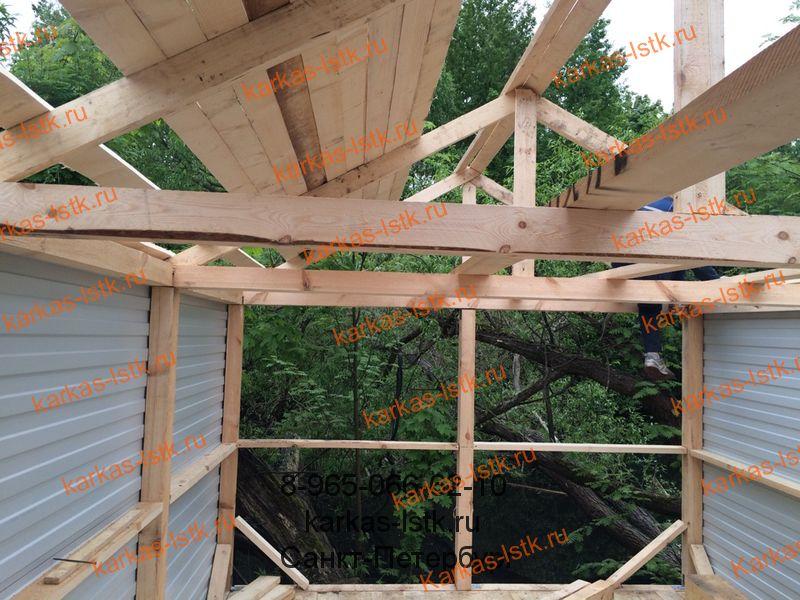 Каркасный гараж из дерева в кооперативе