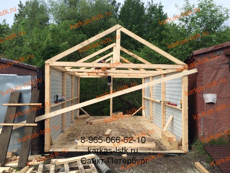 Как быстро построить гараж своими руками из дерева