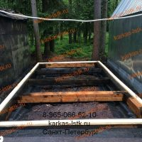 Каркасный гараж в кооперативе, установка лаг для пола: портфолио karkas-lstk.ru