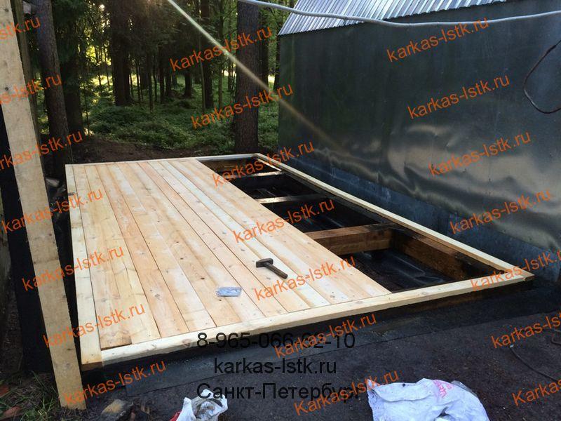пол в гараже на деревянной основе