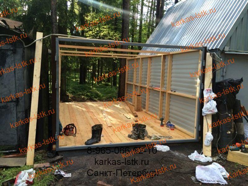 Возведение стен гаража в кооперативе