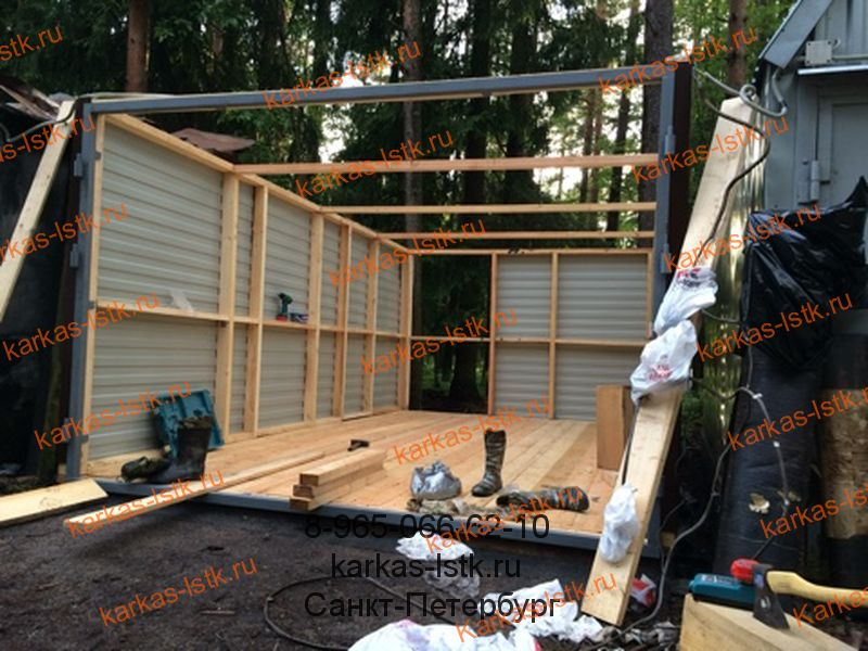 строительство каркасного гаража в кооперативе