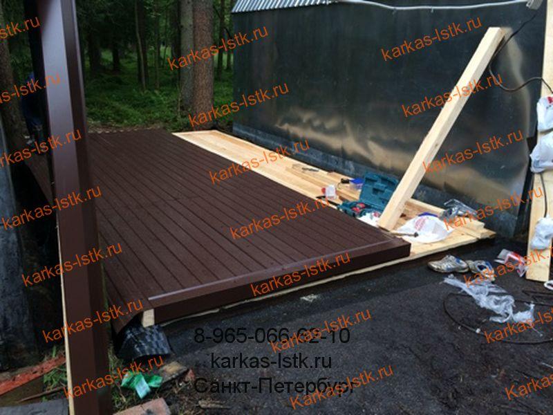 возведение стен в гараже на деревянной основе