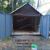 Готовый разборный гараж портфолио karkas-lstk.ru