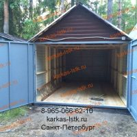 Готовый разборный гараж: портфолио karkas-lstk.ru