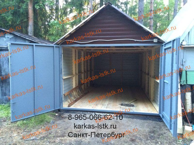 Готовый разборный гараж