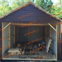 Каркасный гараж в кооперативе: портфолио karkas-lstk.ru