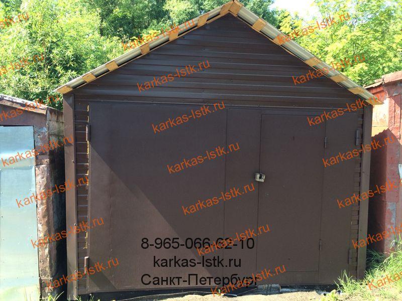 гараж под ключ на деревянном каркасе купить