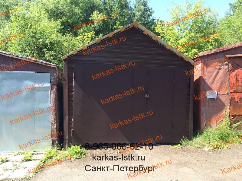 каркасный гараж на деревянной основе купить