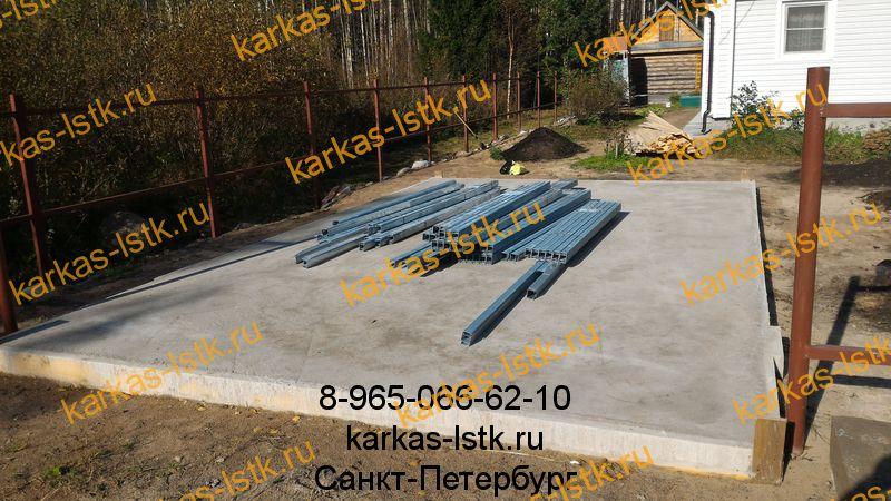 Строительство фундамента под гараж лстк