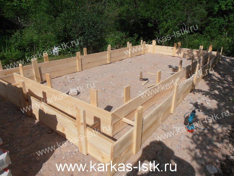 Фундамент для коттеджа в Ленинградской области
