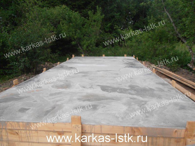 Заливка фундамента плиты под газобетон