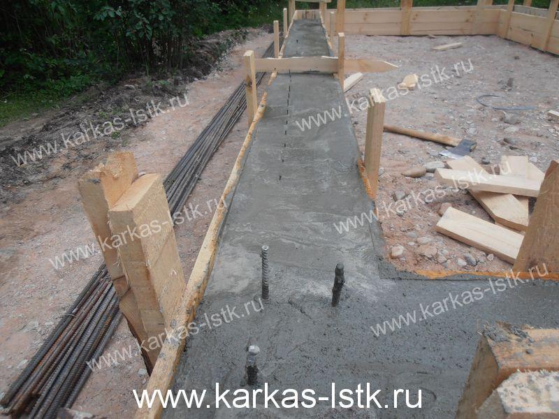 Заливка фундамента в Ленинградской области