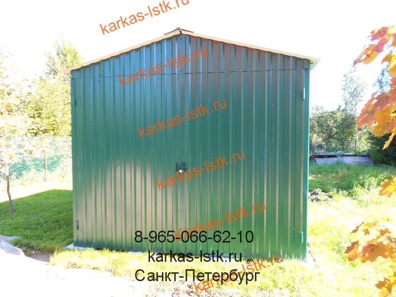 Гараж из профнастила - производство в Санкт-Петербурге