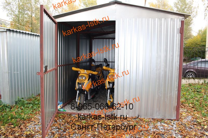 Цены на гаражи для парка мотоциклов