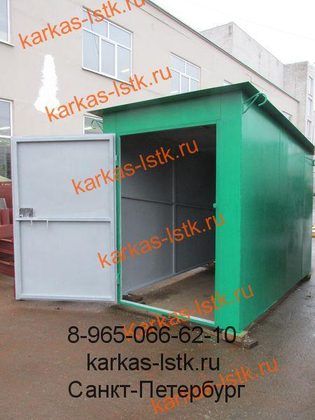 стальной гараж окрашенный