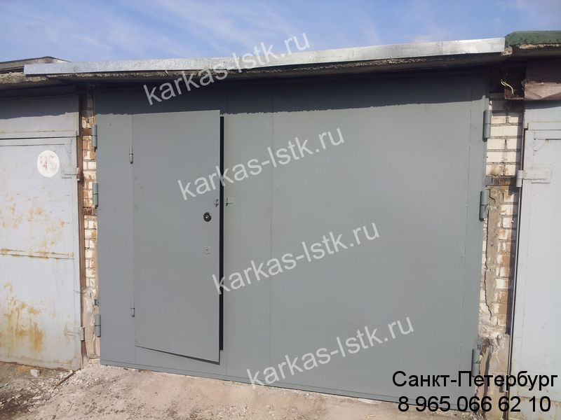 ворота с калиткой цена в Петербурге