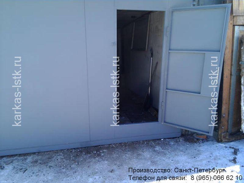 ворота для гаража с калиткой купить в спб