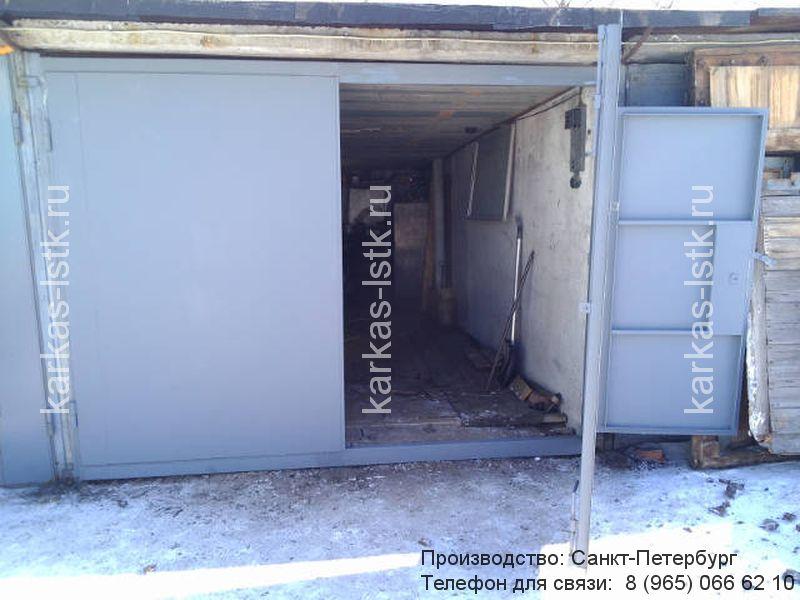 ворота гаражные с калиткой купить в спб