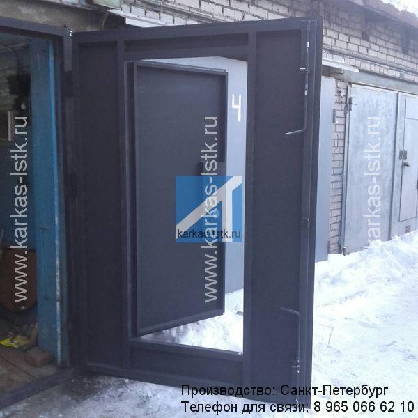 металлические ворота с калиткой для гаража цены