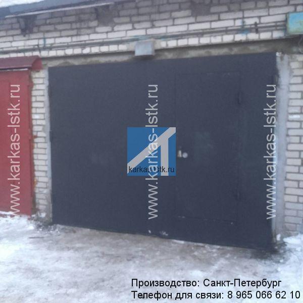 купить ворота с калиткой распашные в петербурге
