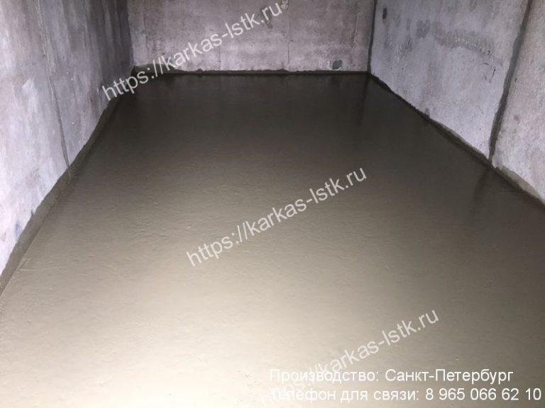 бетонный пол в гараже цена