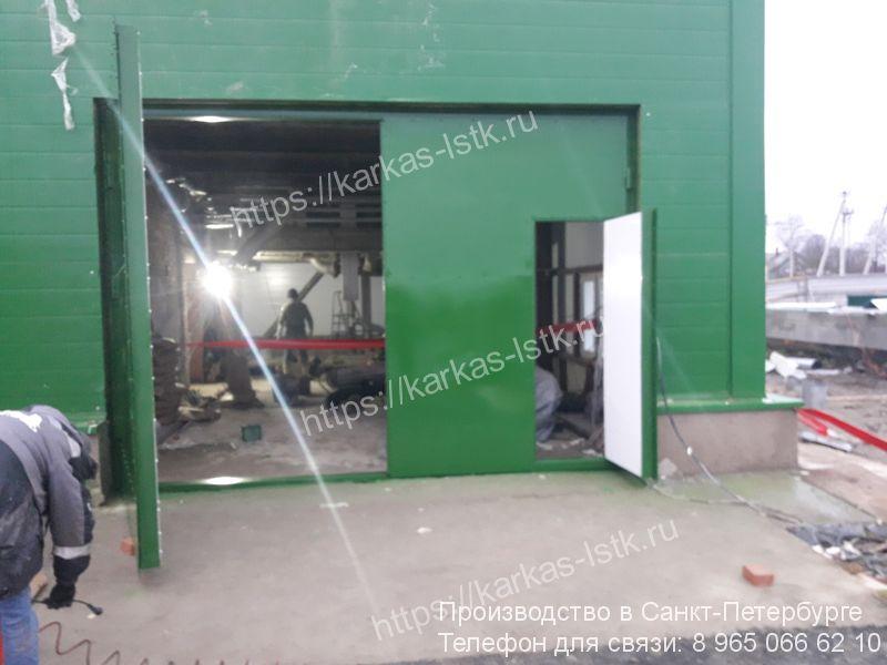 стальные ворота для склада купить