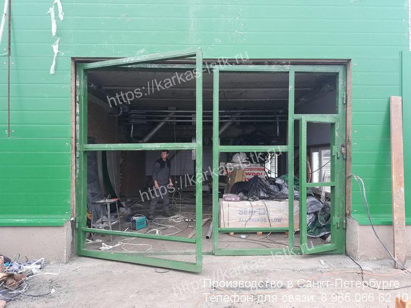 ворота распашные для цеха купить