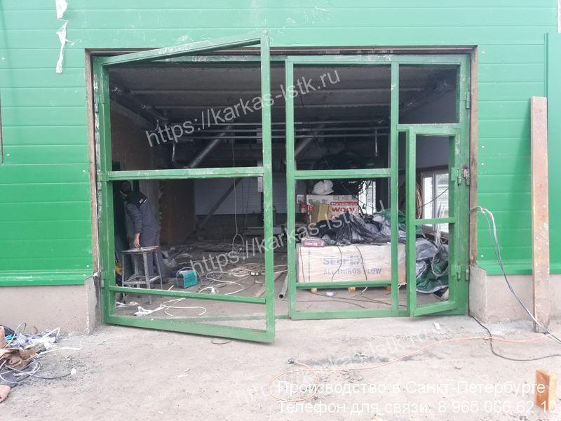 ворота со стальным каркасом цена