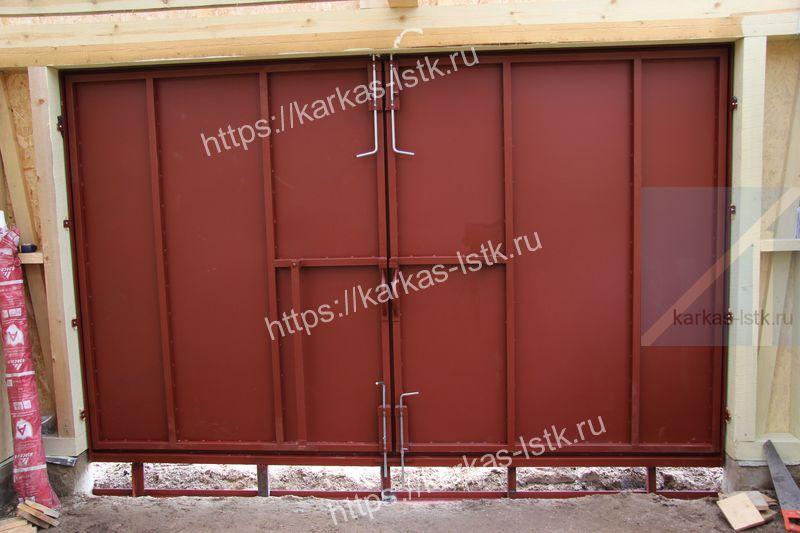 ворота в гараж без калитки