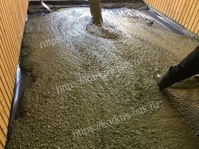 как сделать заливку бетона в гараже