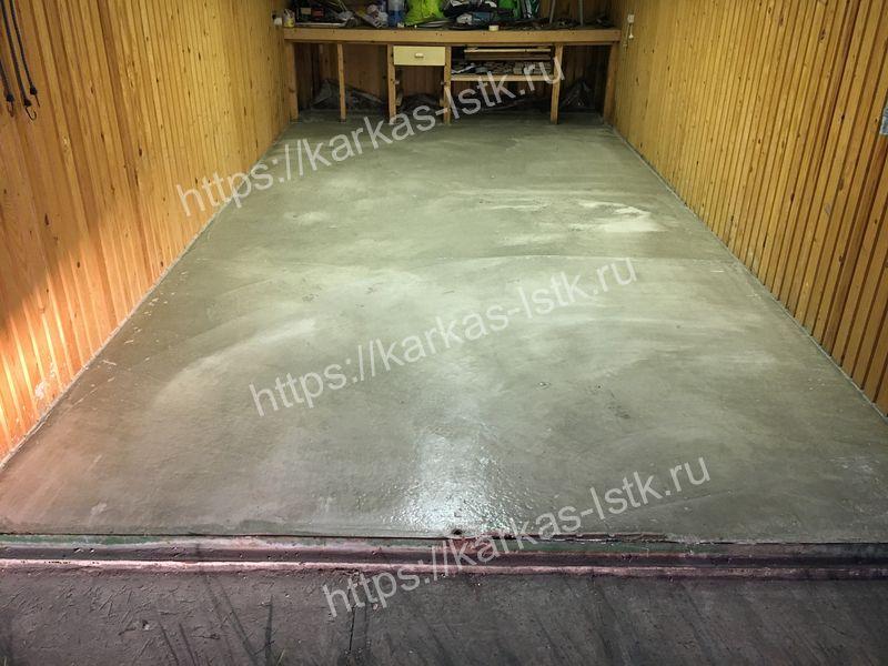 бетонирование пола 15 см в гараже