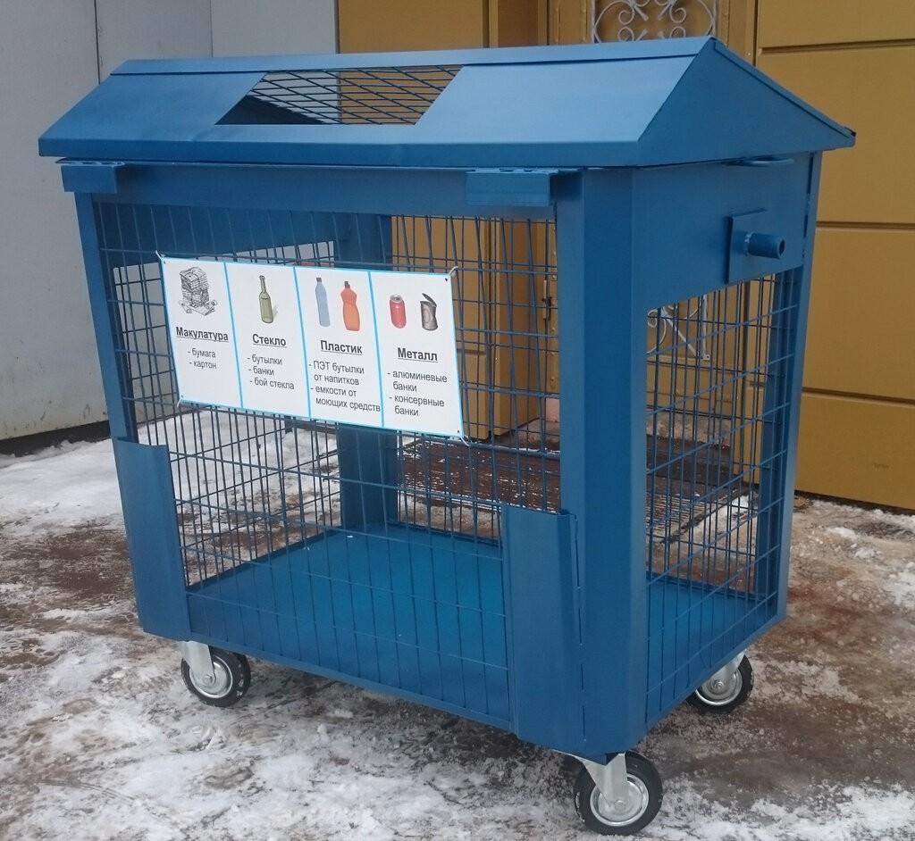 дворовый контейнер для раздельного сбора мусора