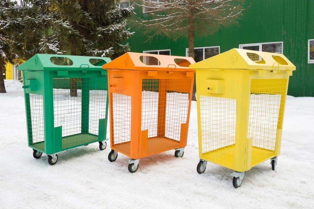 набор контейнеров для раздельного сбора
