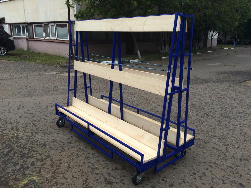 пирамида для перевозки стекла на колёсах