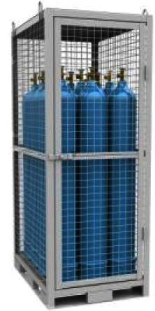 клеть для девяти газовых баллонов