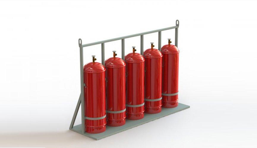 стойка для пяти газовых баллонов
