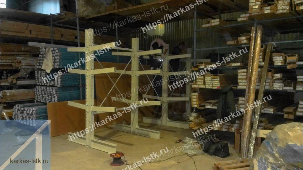 стеллажи елки для цехов и производств